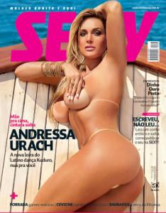 Cover Andressa Urach – (Revista Sexy Brazil – Abril 2012 + Video)
