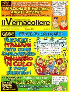 Cover Il Vernacoliere – Giugno 2015